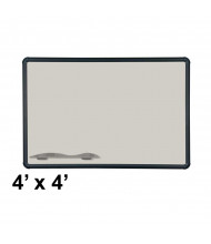 Best-Rite 404PD-T1-52 Evolution Projection Surface 4 ft. x 4 ft. Matte Gray Black Presidential Trim Whiteboard