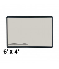Best-Rite 404PG-T1-52 Evolution Projection Surface 6 ft. x 4 ft. Matte Gray Black Presidential Trim Whiteboard