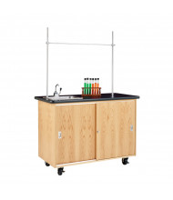 "Diversified Woodcrafts 48"" W Science Demo Mobile Lab Table with Sink"