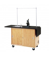 "Diversified Woodcrafts 48"" W Science Demo Mobile Lab Table with Sink & Storage"