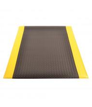 NoTrax 419 Diamond Sof-Tred Dyna-Shield 3' Wide Sponge Back Vinyl Anti-Fatigue Floor Mat, Black/Yellow