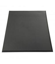 NoTrax 425 Revive RS Solid 3' x 5' Sponge Back Rubber Anti-Fatigue Floor Mat, Black
