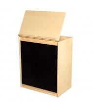 "Wood Designs Classroom Book Display Storage and Flannel Board, Birch, 28"" H x 24"" W x 15"" D"