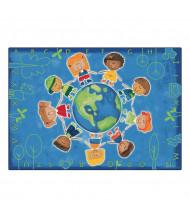 Carpets for Kids Give the Planet a Hug Rectangle Classroom Rug