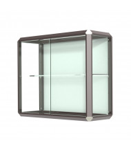 """Waddell Prominence 444 Series Wall Display Case 36""""W x 30""""H x 14""""D (Shown in Dark Bronze)"""