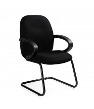 Global Enterprise 4565 Fabric Guest Chair. Shown in Black