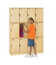 Jonti-Craft ThriftyKYDZ 12-Section Lockable School Locker