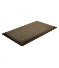 NoTrax 470 Marble Sof-Tyle 3' Wide Laminate Back Vinyl Anti-Fatigue Floor Mat, Black