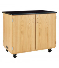 Diversified Woodcrafts STEM Mobile Microscope Classroom Charging Cabinet