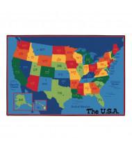 Carpets for Kids USA Map Rectangle Classroom Rug