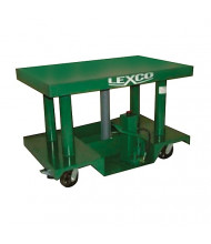 """Lexco 3000 to 6000 lb Load 48"""" x 30"""" Table Portable Manual Hydraulic Lift Tables"""