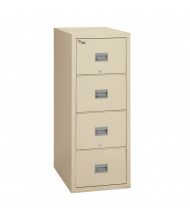"""FireKing Patriot 4-Drawer 25"""" Deep 1-Hour Rated Fireproof File Cabinet, Letter & Legal (Shown in Parchment)"""