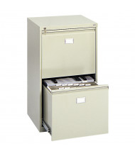 """Safco 2-Drawer 24"""" Deep Vertical File Cabinet for 18"""" x 12"""" Sheets, Sand"""