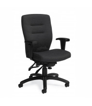 Global Synopsis 5081-3 Fabric Multi-Tilter Mid-Back Executive Office Chair (coal black)