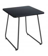 """Safco Anywhere 5090 20"""" W End Table, Black/Black"""