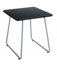 """Safco Anywhere 20"""" W End Table, Black/Silver"""