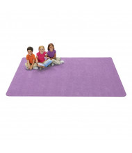 Carpets for Kids KIDply Soft Solids Rectangle Classroom Rug, Lilac
