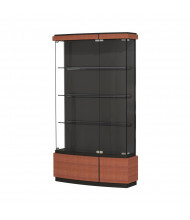 """Waddell Quantum 511 Series Contemporary Lighted Floor Display Case 42""""W x 73""""H x 12""""D (Shown in Cherry)"""