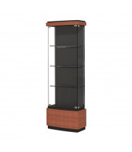 """Waddell Quantum 512 Series Contemporary Lighted Floor Display Case 29""""W x 73""""H x 12""""D (Shown in Cherry)"""