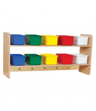 Wood Designs Wall Hanging Storage, 10 Trays (Shown with Assorted Trays)