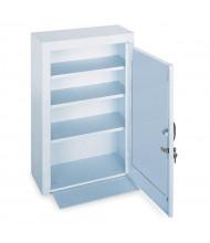 """Durham Steel 18"""" x 8"""" x 27"""" 3-Shelf Medical Storage Cabinet with Metal Door"""