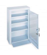 """Durham Steel 18"""" x 8"""" x 27"""" 3-Shelf Medical Storage Cabinet with Plexiglass Door"""