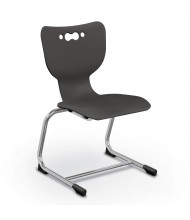 """Balt Hierarchy 16"""" H Cantilever Classroom Chair, 5-Pack (Shown in Black)"""