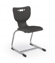"""Balt Hierarchy 18"""" H Cantilever Classroom Chair, 5-Pack (Shown in Black)"""