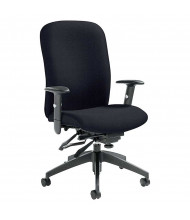 Global Truform 5450-3 Fabric Multi-Tilter High-Back Office Chair. Shown in Black