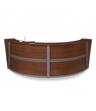 "OFM Marque 55292 121.25"" W U-Shaped Curved Reception Desk (Shown in Cherry)"