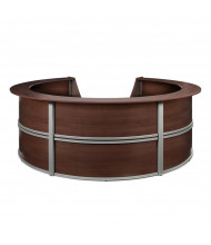 "OFM Marque 55296 142"" W U-Shaped Curved Reception Desk (Shown in Cherry)"