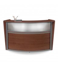 "OFM Marque 55310 72"" W Plexi Panel Curved Reception Desk (Shown in Cherry)"