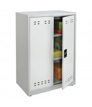 """Safco 30"""" W x 18"""" D x 42"""" H Counter Height Storage Cabinet, Assembled (Shown in Grey)"""