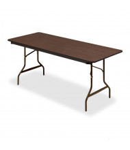 """Iceberg 30"""" x 72"""" Economy Wood Laminate Folding Table"""