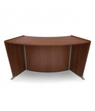 "OFM Marque 55490 62.5"" W ADA Curved Reception Desk (Shown in Cherry)"