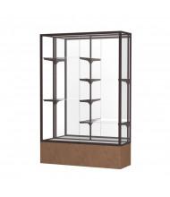 """Waddell Monarch 572 Series Floor Display Case 48""""W x 72""""H x 16""""D (Shown in Beige/White Laminate/Dark Bronze)"""