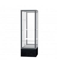 "Waddell Monarch 576 Series Floor Display Case 24""W x 72""H x 24""D (Shown in Black/Mirror/Satin Natural)"
