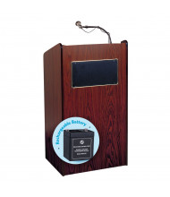 Oklahoma Sound Aristocrat Sound System Lectern, Rechargable Battery (Shown in Mahogany)