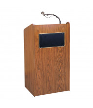 Oklahoma Sound Aristocrat Wireless Sound System Lectern (Shown in Medium Oak)