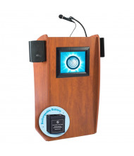 Oklahoma Sound Vision LCD Screen Wireless Sound System Lectern, Battery