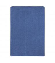 Joy Carpets Just Kidding Solid Color Classroom Rug, Cobalt Blue