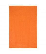 Joy Carpets Just Kidding Solid Color Classroom Rug, Tangerine Orange