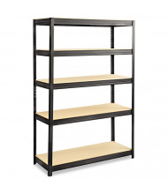 "Safco 6246BL 18"" D x 48"" W x 72"" H 5-Shelf Steel/Particleboard Boltless Shelving Unit"