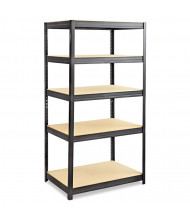 "Safco 6247BL 24"" D x 36"" W x 72"" H 5-Shelf Steel/Particleboard Boltless Shelving Unit"