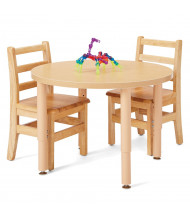 """Jonti-Craft Purpose Plus 30"""" W Round Height Adjustable Laminate Preschool Table (Chairs Not Included)"""