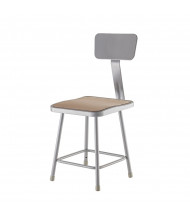 "NPS 18"" H Square Science Lab Stool, Backrest"
