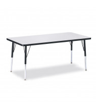 "Jonti-Craft Berries 60"" x 30"" Rectangle Classroom Activity Table (Shown in Grey / Black"