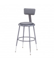 "NPS 25"" - 33"" Height Adjustable Padded Round Science Lab Stool, Backrest (19"" - 27"" shown)"