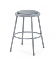 """NPS 24"""" H Padded Round Science Lab Stool"""