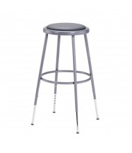 "NPS 25"" - 33"" Height Adjustable Padded Round Science Lab Stool"